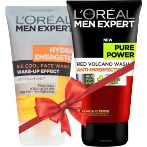 L'Oreal Hydra Energatic Face Wash + Pure Powder Face Wash